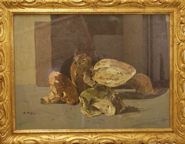 Dipinto NATURA MORTA olio su compensato, cm 58x78 indistintamente firmato