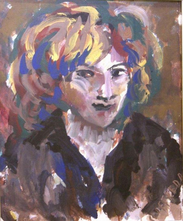 Silvio Loffredo (Parigi 1920)  FIGURA FEMMINILE  olio su cartone telato, cm 50x60