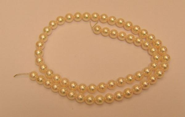 Filo di perle coltivate akoia, diametro mm 6,5