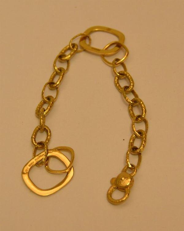 Braccialetto in oro giallo, DANIELA, g 19,3, marcato Torrini