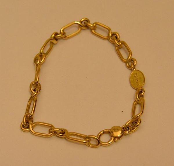 Braccialetto in oro giallo, BARGELLO, g 15,2, marcato Torrini