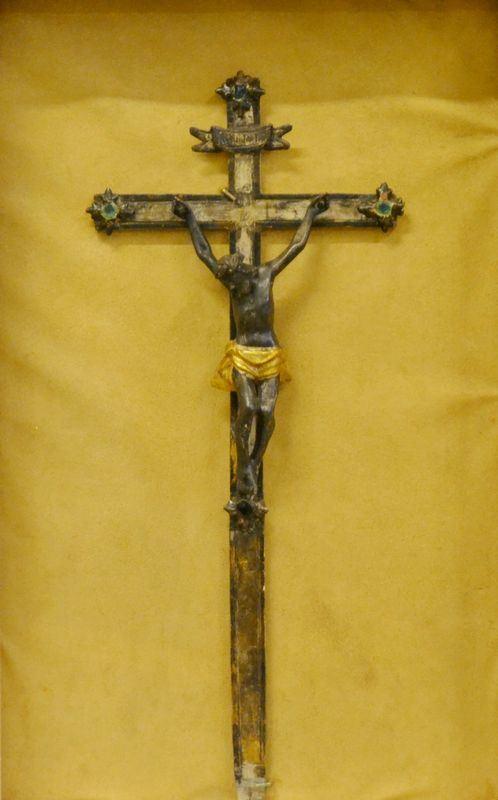 Scuola italiana, sec. XVIII   CRISTO IN CROCE   in legno, cm 10x20
