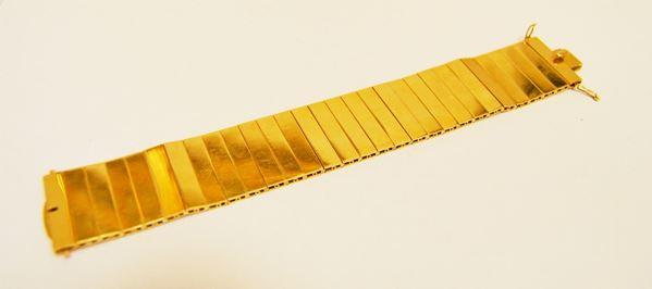 Bracciale in oro giallo con elementi snodati, g 92,5