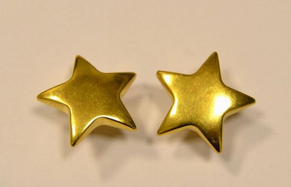 Paio di orecchini in oro giallo
