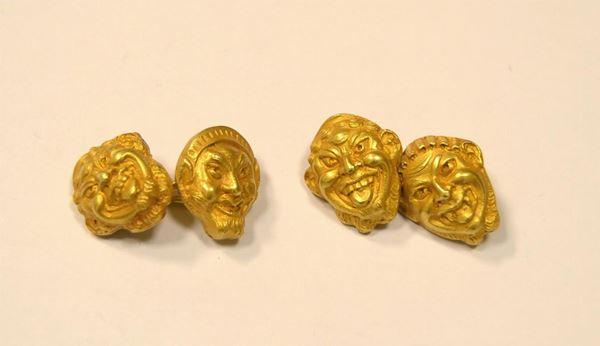 Paio di gemelli in oro