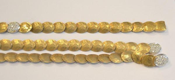 Demi-parure in oro giallo e diamanti