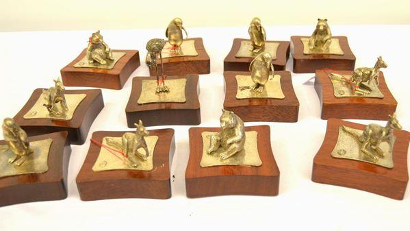 Dodici sculture in argento 925