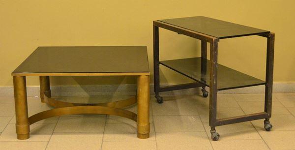 Tavolino da fumo e carrello portavivande, sec. XX, base