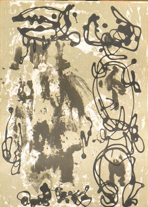 Gino Marotta, ASTRATTO, prova d'autore, firmata, cm 49x35