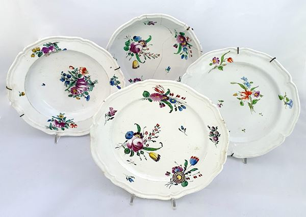 Quattro piatti, sec. XIX