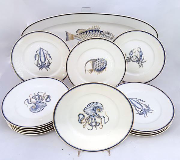 Pesciera e dodici piatti, sec. XX