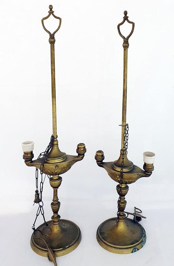 Due lucerne fiorentine, sec. XIX