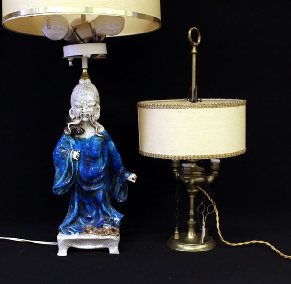 Lampada da tavolo, arte orientale, sec. XX
