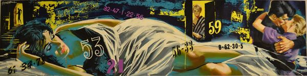 Lotto di cinque illustrazioni eseguite da Sandro Symeoni (1928-2007) e tre