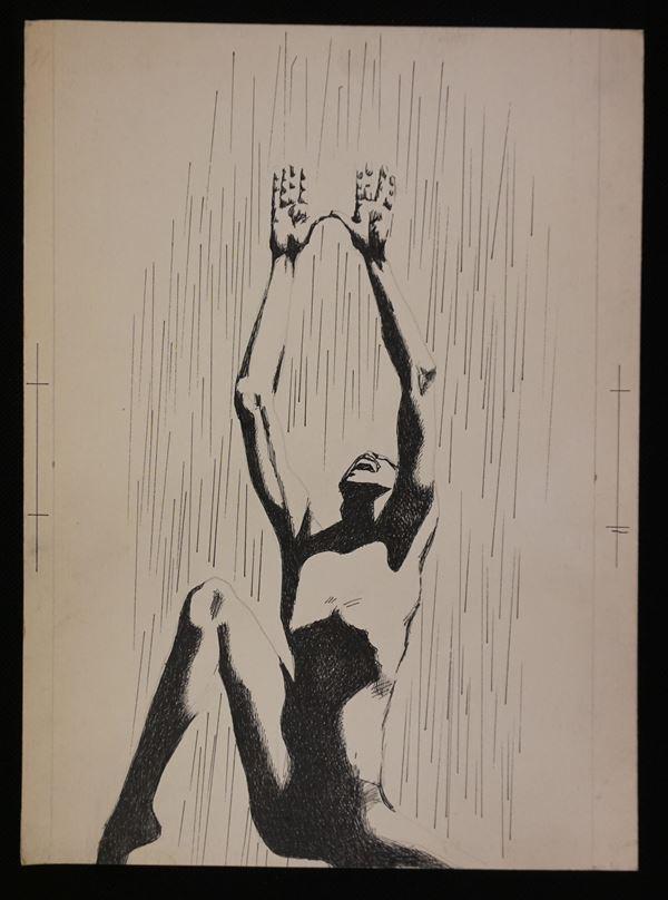 Lotto di sei illustrazioni eseguite da Karel Thole (1914-2000) tecnica