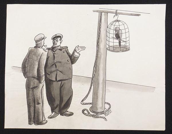 Lotto di quattordici illustrazioni eseguite da Mario Vellani Marchi
