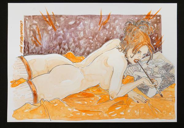 Cristina FabrisNUDO FEMMINILE (2005)acquerello su carta, cm 19x28