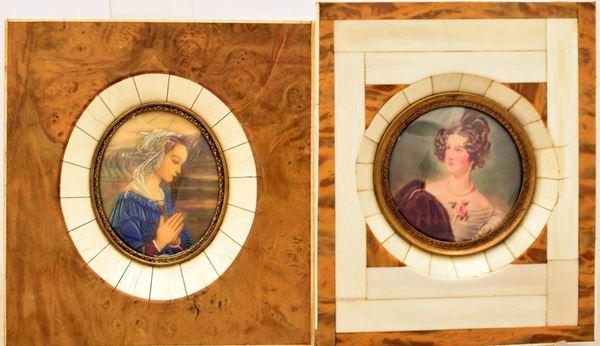 Due miniature , sec. XIX