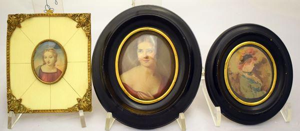 Due miniature , sec. XIX/XX