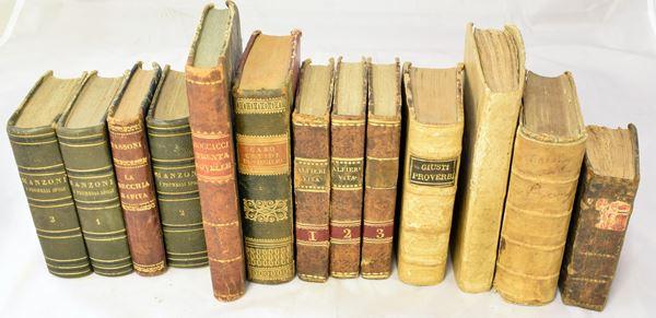 Tredici volumi sec. XVIII/XIX