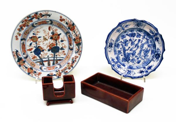 Piatto arte orientale sec. XVIII
