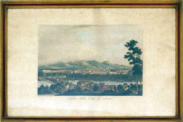 Acquaforte acquerellata, sec. XIX