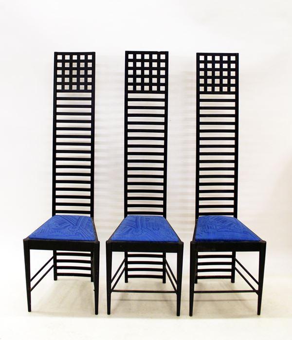 Tre sedie, sec. XX