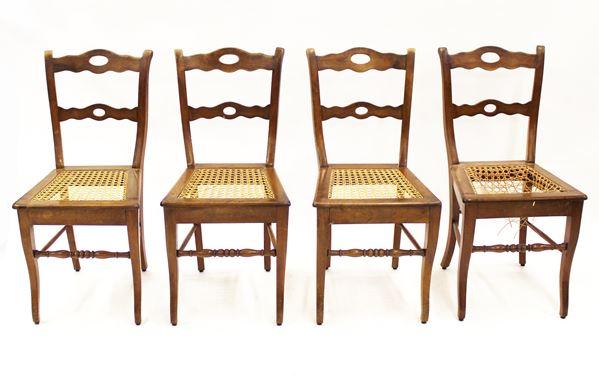 Quattro sedie, sec. XIX