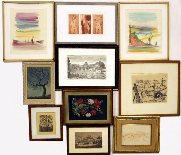 Serie di quadri, sec. XX