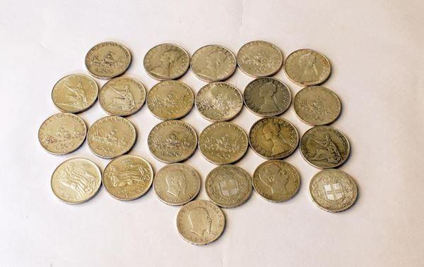 QUARANTASETTE MONETE DA LIRE 500