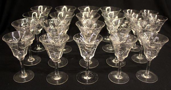 Servito di bicchieri, sec. XX