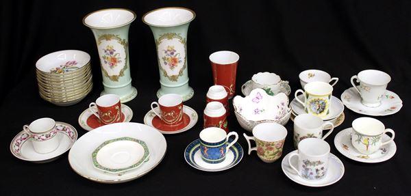 Lotto di ceramiche e porcellane, sec. XX