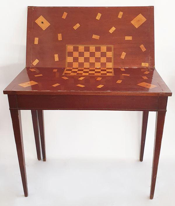 Tavolino da gioco, sec. XX