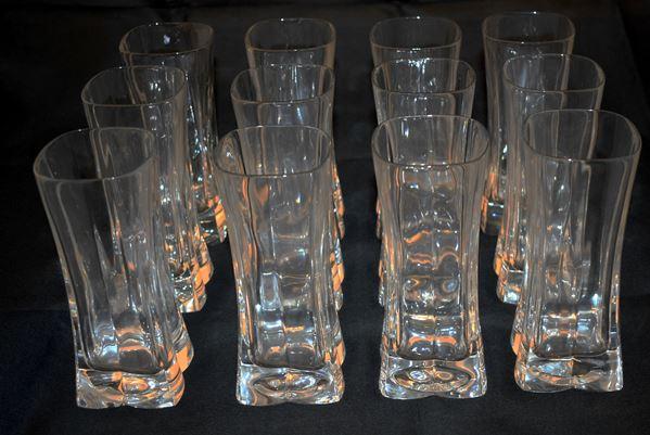Dodici bicchieri in cristallo di Censo
