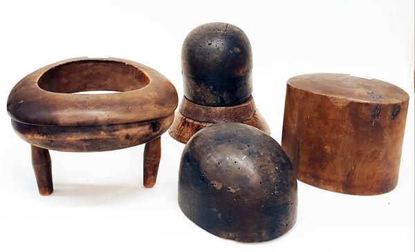 Quattro forme per cappelli, inizi sec. XX,