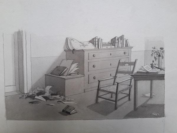 Lotto di nove illustrazioni eseguite da vari illustratori tra cui Pagot, Bernardini, Beltrinelli ed altri non identificati