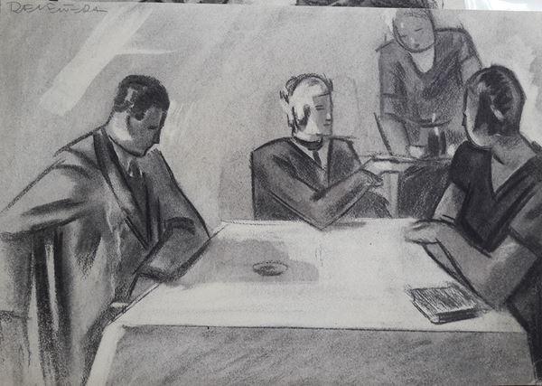 Lotto di tredici illustrazioni eseguite da vari illustratori tra cui Perone ed altri non identificati