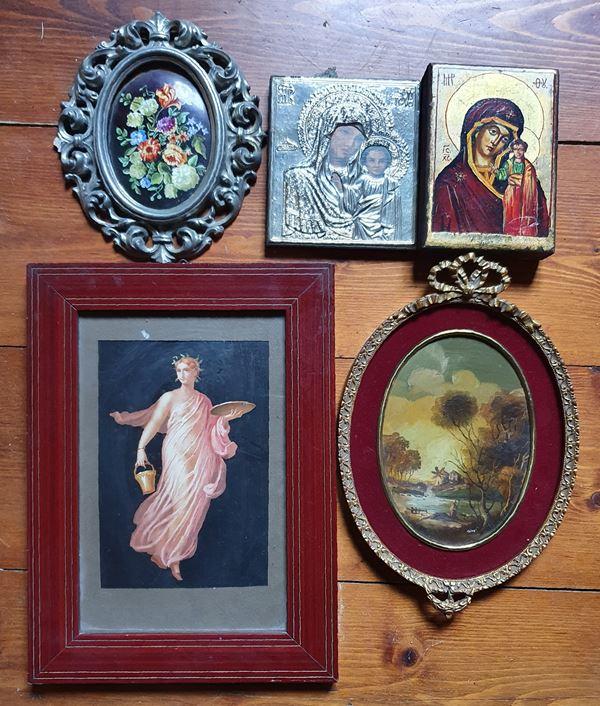 Cinque tra icone, dipinti e stampe, sec. XX