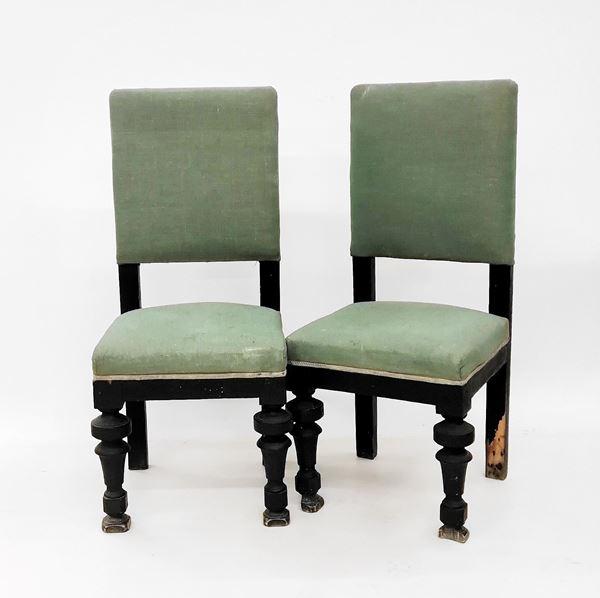 Coppie di sedie, sec. XIX