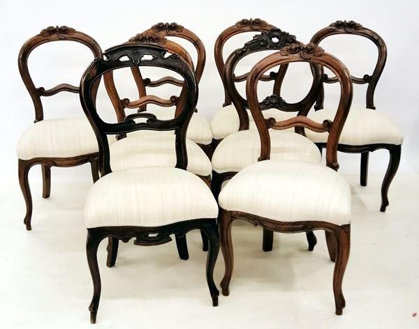 Serie di otto sedie, sec. XIX