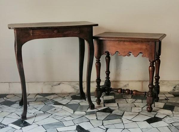 Panchettino e tavolino, Toscana sec, XIX