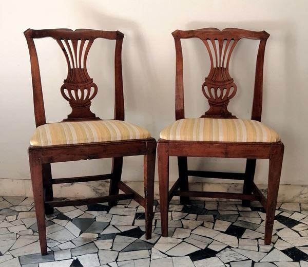 Coppia di sedie, sec. XVIII
