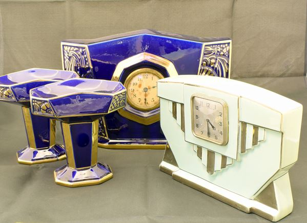 Due orologi soprammobile , Art Decò