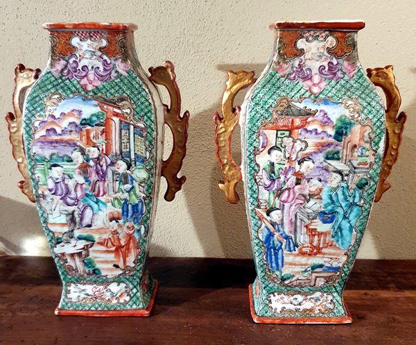 Coppia di vasi ,arte orientale , sec. XX