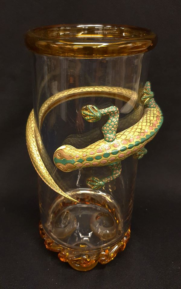 Vaso in vetro sec. XX
