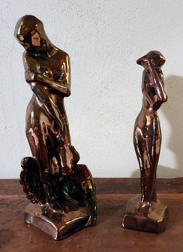 Due sculture , sec. XX