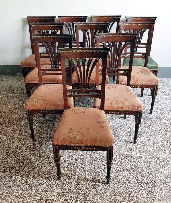 Dieci sedie, inizi sec. XX,